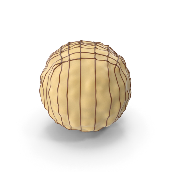 White Chocolate Ball with Chocolate Lines PNG & PSD Images