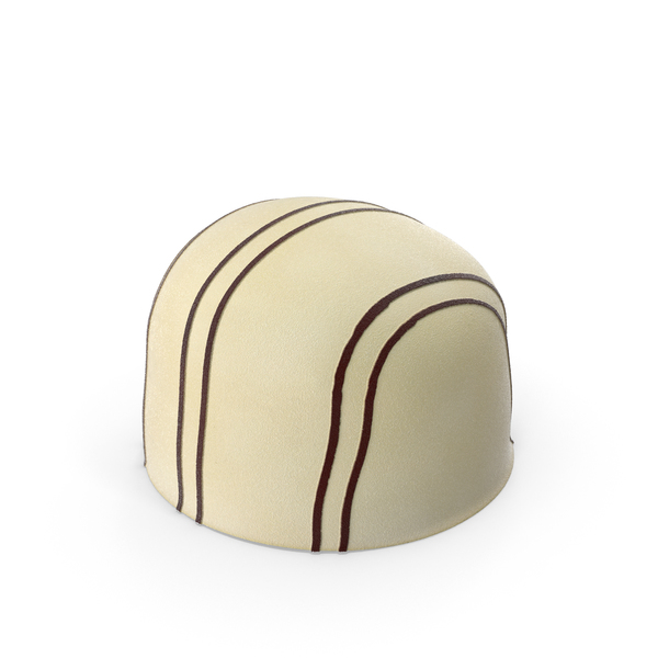 White Chocolate Bonbon with Stripe PNG & PSD Images
