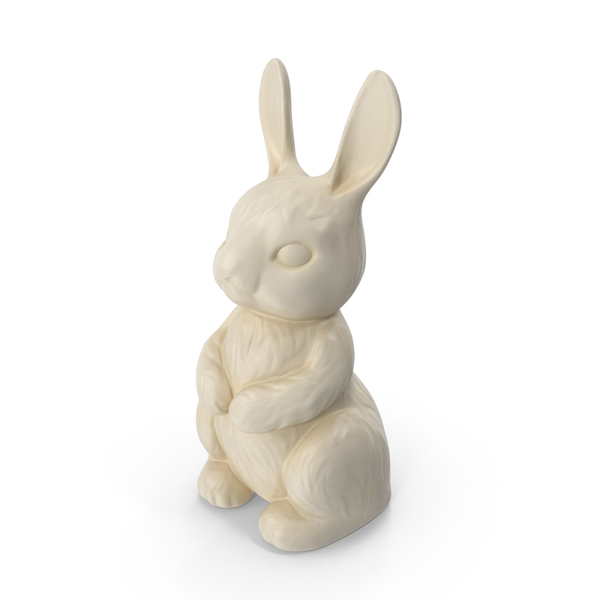 White Chocolate Bunny PNG & PSD Images