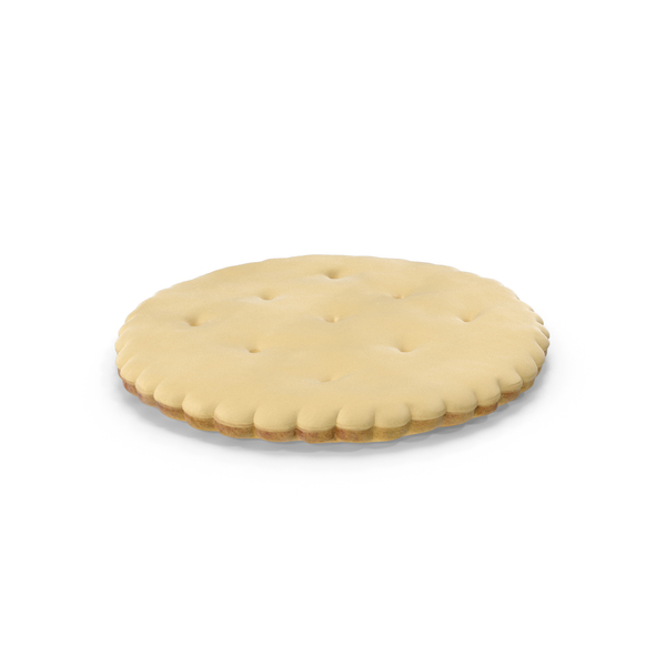 White Chocolate Covered Circular Cracker PNG & PSD Images