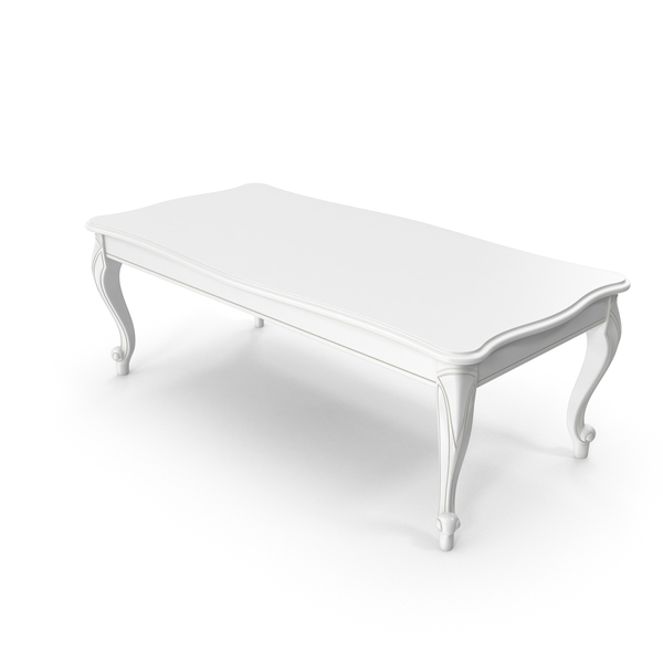 White Coffee Table PNG & PSD Images