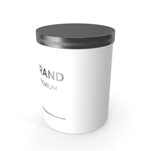 White Cosmetic Jar PNG & PSD Images