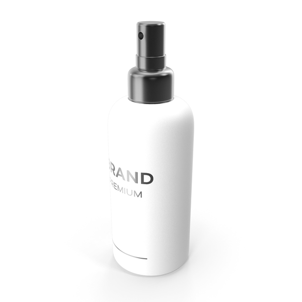 Lotion: White Cosmetic Spray Bottle PNG & PSD Images