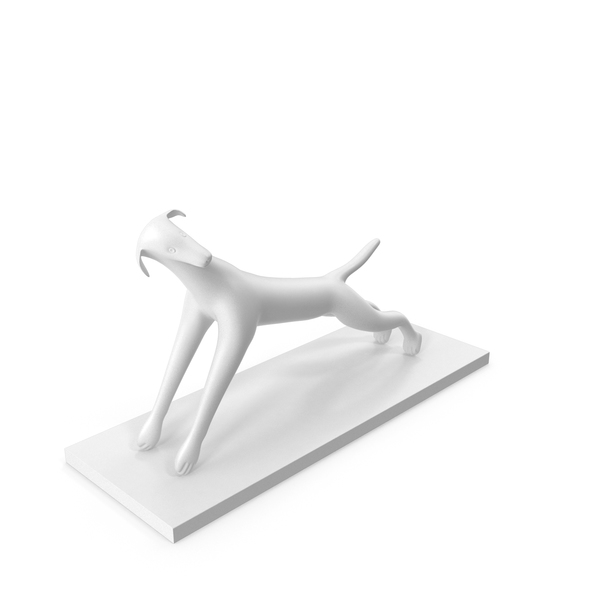 White Dog Sculpture PNG & PSD Images