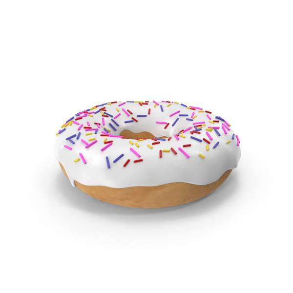 White Donut PNG & PSD Images