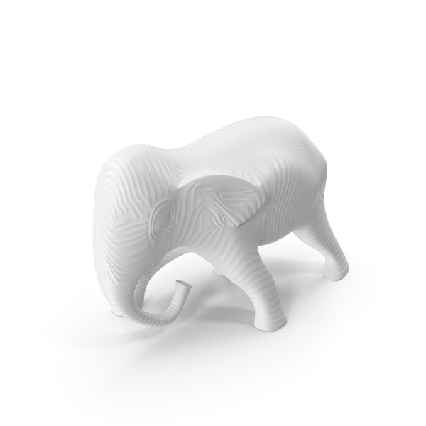 White Elephant Sculpture PNG & PSD Images