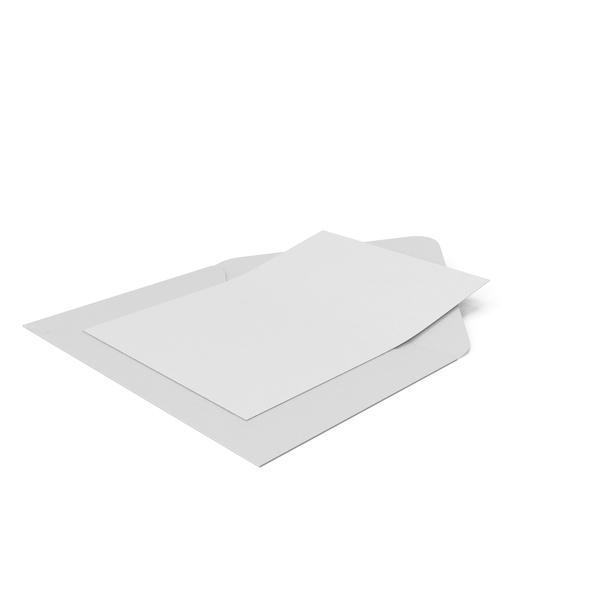 White Envelope and Paper Card PNG & PSD Images