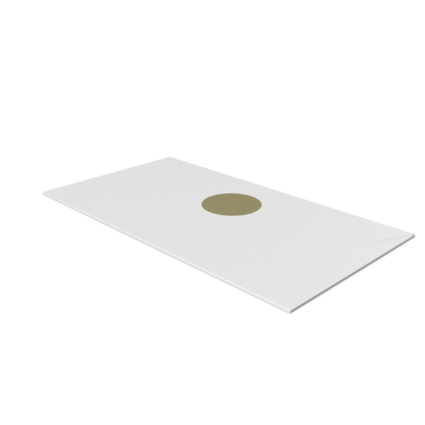 White Envelope with Gold Sticker PNG & PSD Images