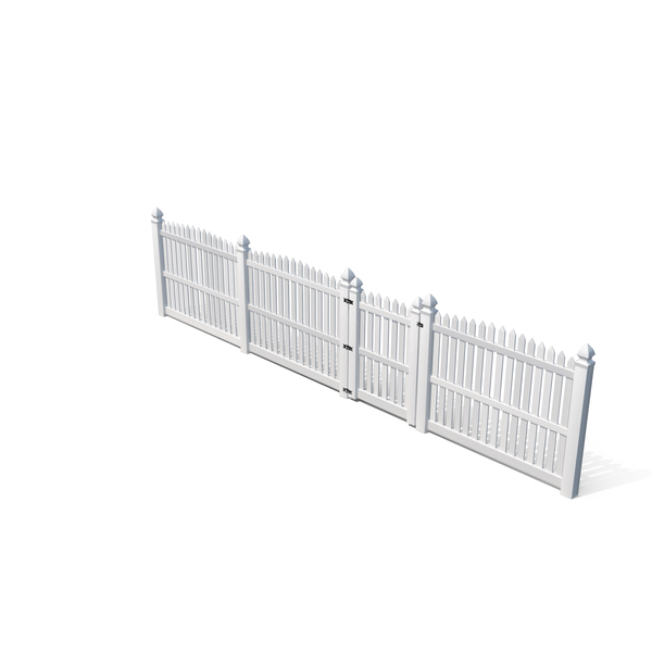 White Fencing Palisade Pointed Pales PNG & PSD Images