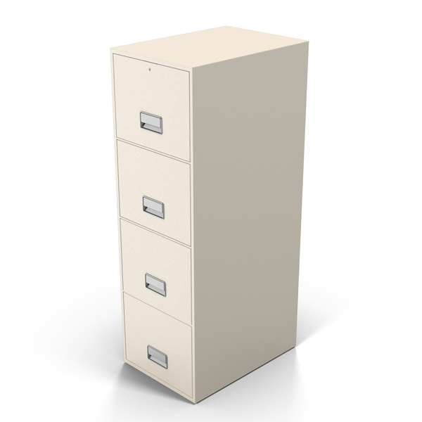 White Filing Cabinet Object