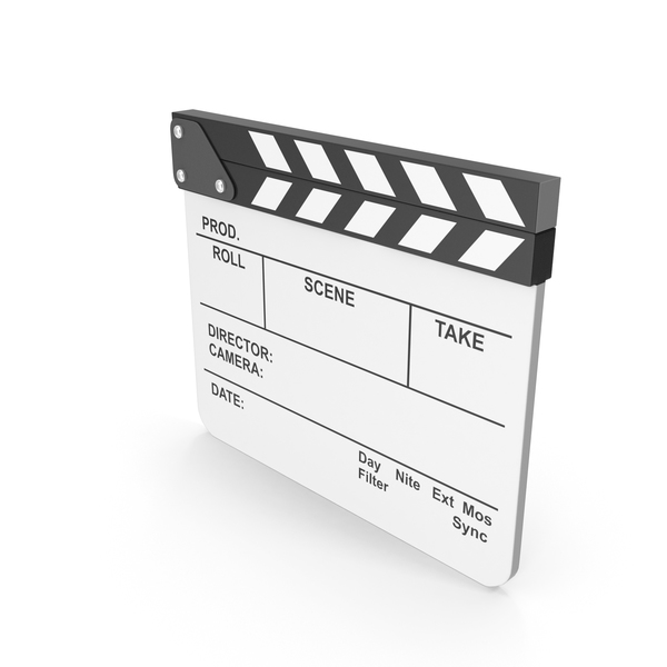 Clapperboard: White Film Clapboard PNG & PSD Images