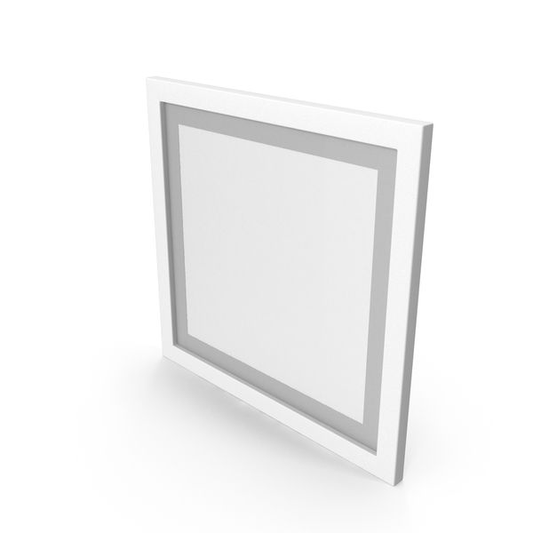 Picture Frame: White Framed Paintings with Grey Border PNG & PSD Images