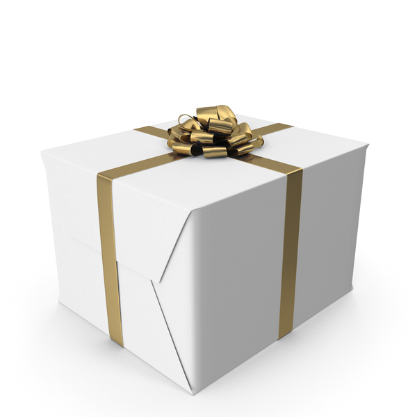 White Gift Box PNG & PSD Images