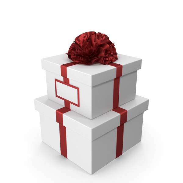 Industrial Equipment: White Gift box with Red Ribbon and Card PNG & PSD Images