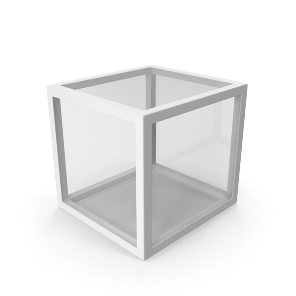 White Glass Cube PNG & PSD Images