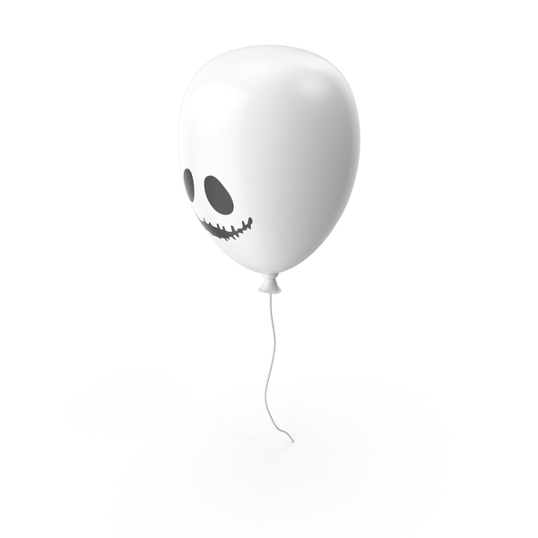 White Halloween Balloon PNG & PSD Images