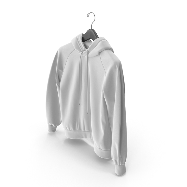 Sweatshirt: White Hoodie with Hanger PNG & PSD Images