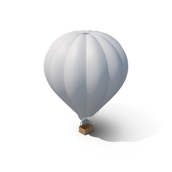 White Hot Air Balloon PNG & PSD Images