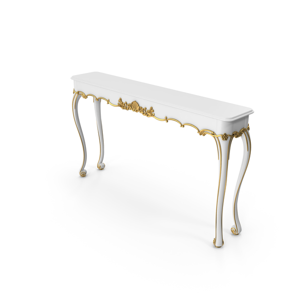 White Jonathan Charles George II Style Console PNG & PSD Images