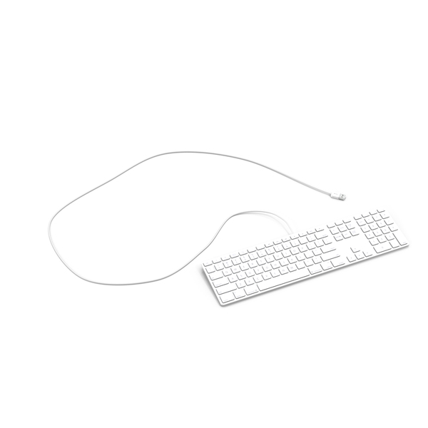 White Keyboard Wired PNG & PSD Images