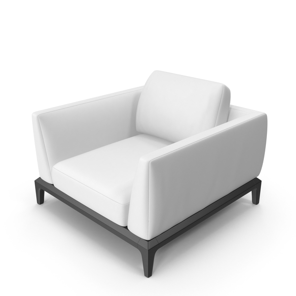 White Leather Office Chair PNG & PSD Images