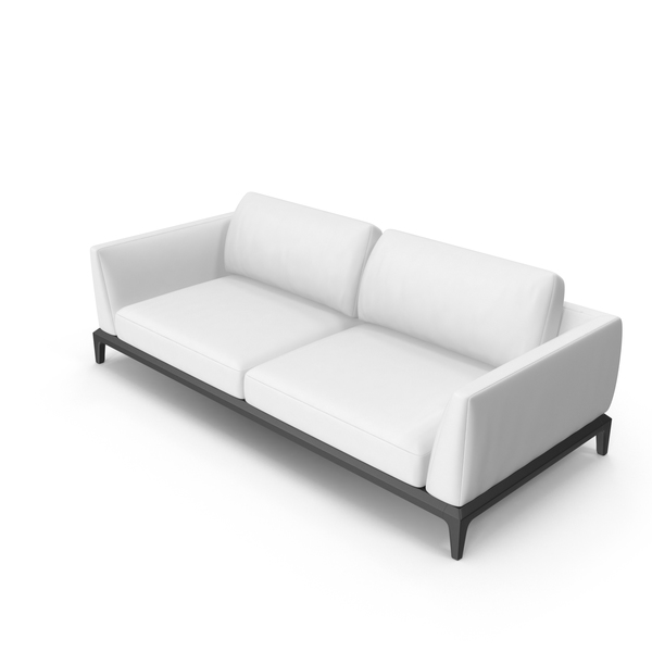 White Leather Office Sofa PNG & PSD Images