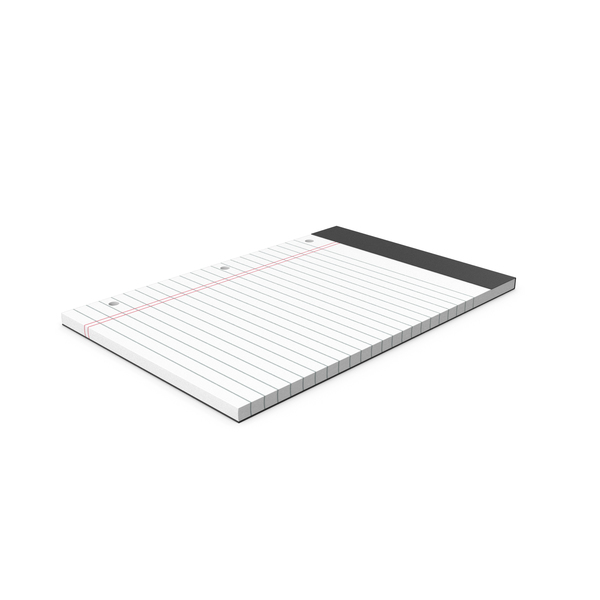 White Legal Pad With Holes PNG & PSD Images