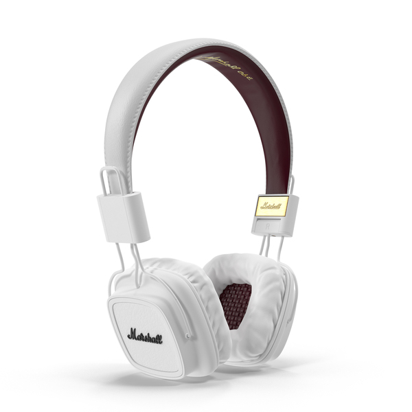 Audio Devices: White Marshall Headphones Object