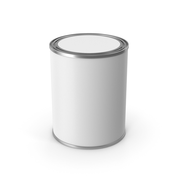 White Metal Paint Bucket PNG & PSD Images