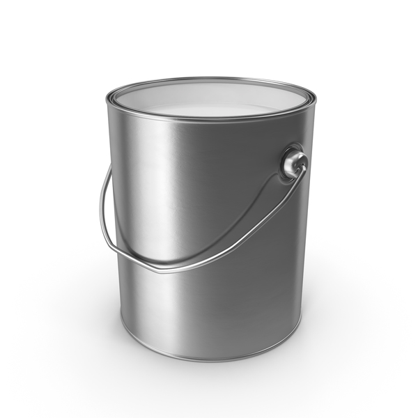 White Metal Paint Can PNG & PSD Images