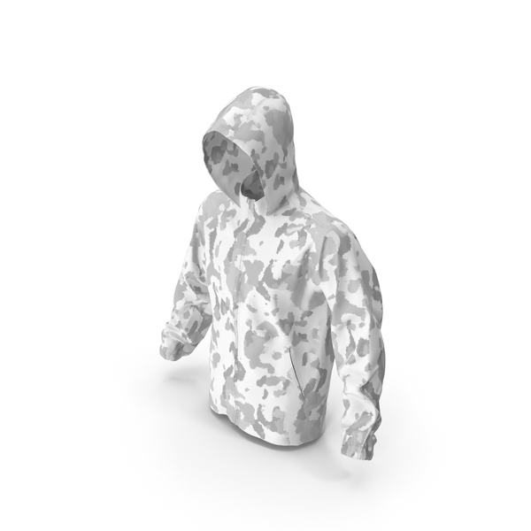 White Military Jacket Hood PNG & PSD Images