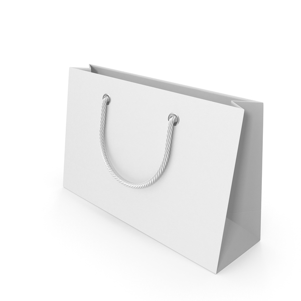 White Packaging Bag with White Handles PNG & PSD Images