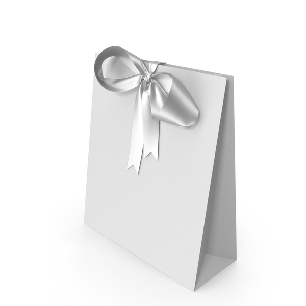 White Packaging Paper with White Ribbon Bow PNG & PSD Images