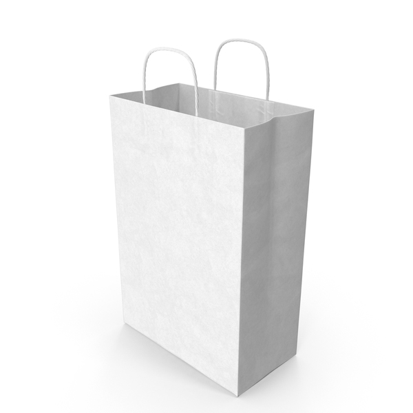 White Paper Bag PNG & PSD Images