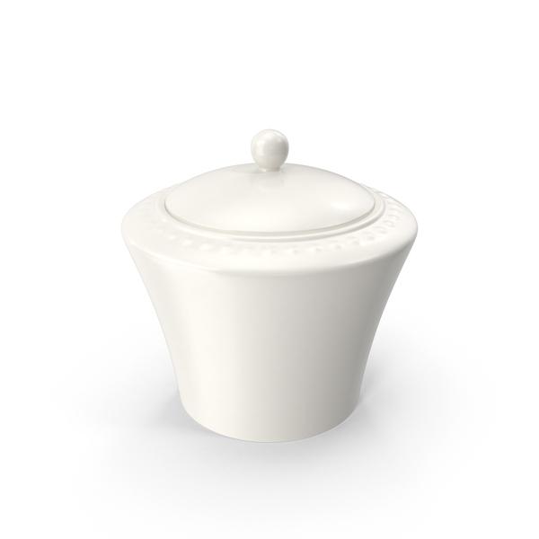 White Pearl Sugar Bowl PNG & PSD Images
