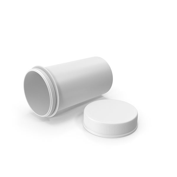 White Pill Bottle Open PNG & PSD Images