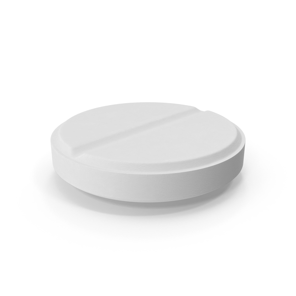 White Pill (Flat on surface) Object