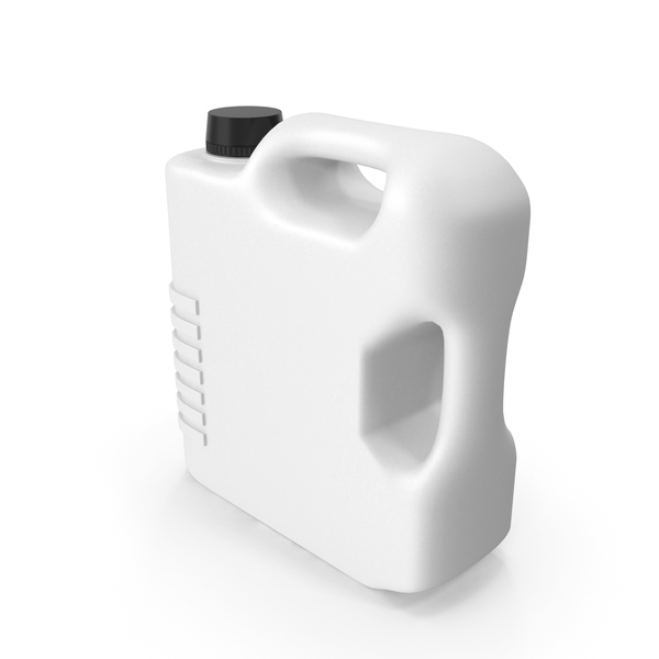 Fuel Can: White Plastic Jerrycan PNG & PSD Images
