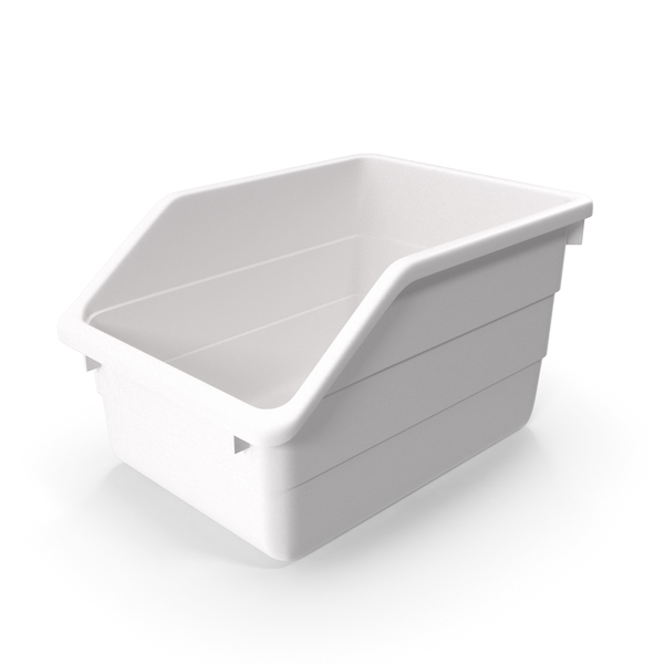 White Plastic Storage Bin PNG & PSD Images