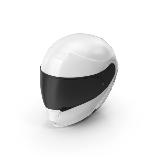 White Racing Helmet Object