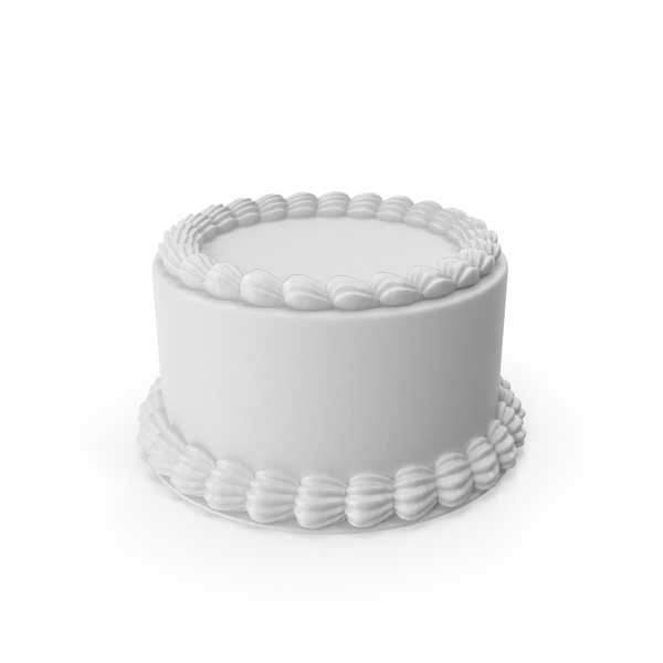 White Round Cake PNG & PSD Images