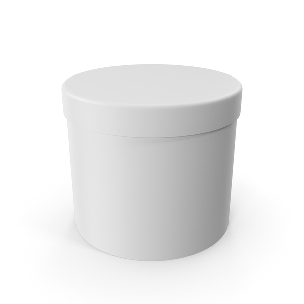 White Round Cardboard Box PNG & PSD Images