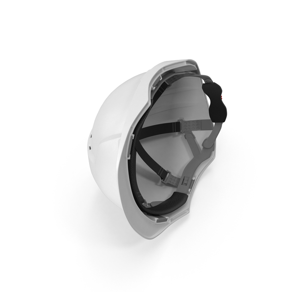 White Safety Helmet Object