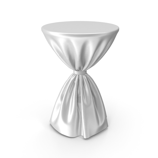 White Silk Tablecloth Cocktail Table PNG & PSD Images