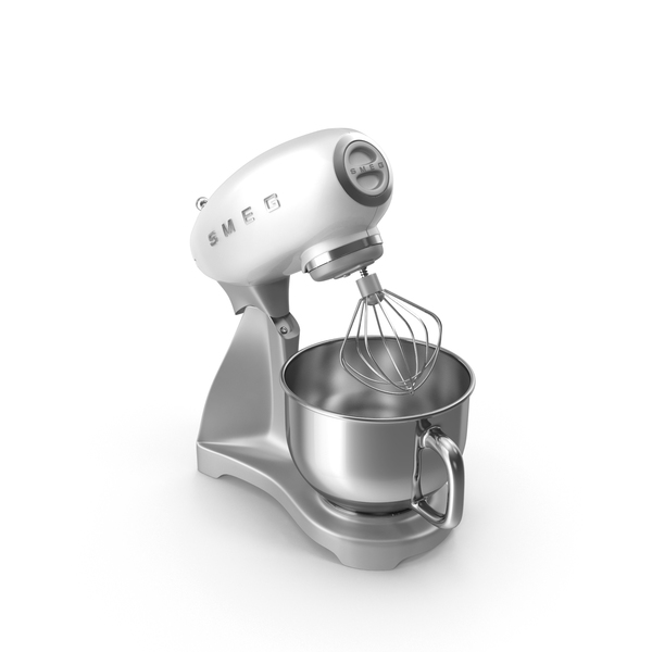 White Smeg Stand Mixer PNG & PSD Images