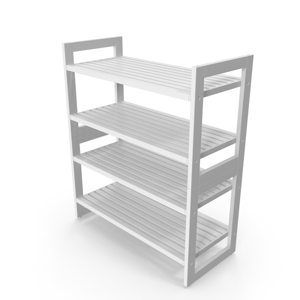 White Stackable Shoe Rack PNG & PSD Images