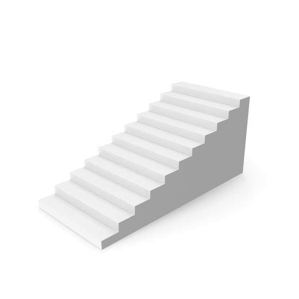 White Stairs Object