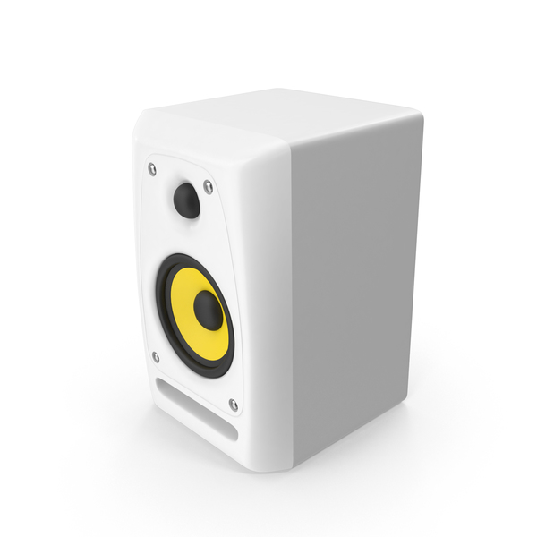 Speaker: White Studio Monitor PNG & PSD Images