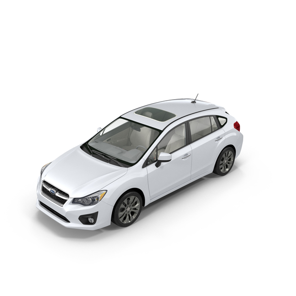 Hatchback: White Subaru Impreza Object