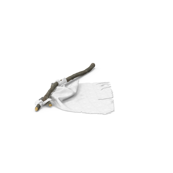 White Surrender Flag Object